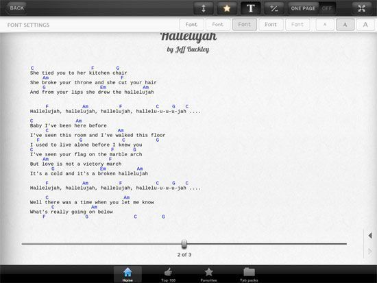 Guitar guitar tabs on screen : Ultimate Guitar Tabs HD For The iPad Undergoes Makeover | Music ...